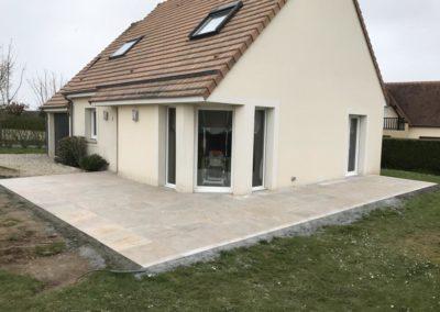Carrelage extérieur à Caen (Calvados-14) - Terrasse grès cérame