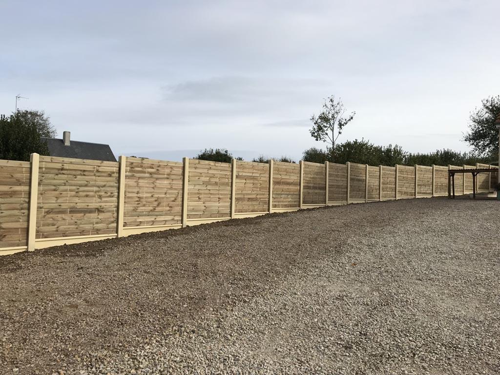 installation, pose de clôtures en béton à Caen (Calvados -14)
