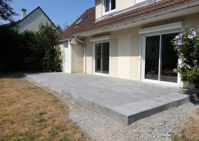 construction de terrasse grès cérame à Caen (Calvados -14) -AVAE Paysage