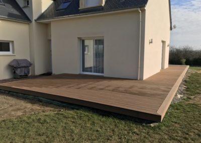 construction d'une terrasse en bois composite près de Caen (Calvados -14)