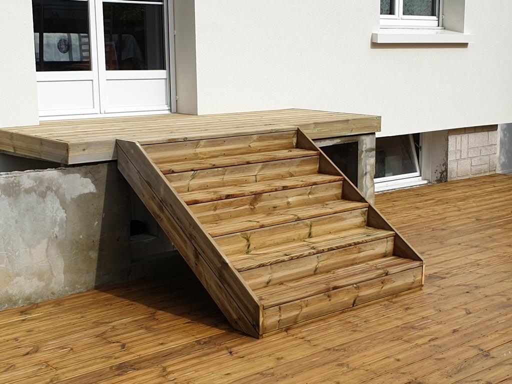 Création d'escaliers de jardin ou de terrasse à Caen (Calvados -14) - AVAE