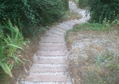 création escaliers de jardin à Caen (Calvados -14) - AVAE