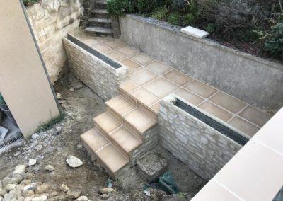 création escaliers de terrasse à Caen (Calvados -14) - AVAE