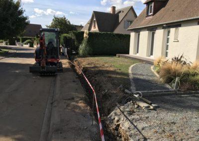 Création d'un mur de clôture à Caen (Calvados -14) -AVAE