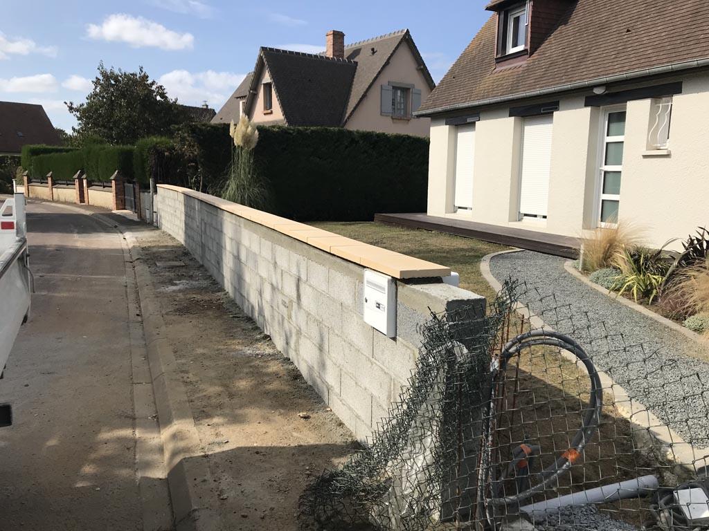 Création de murets en pierre à Caen (Calvados -14) - AVAE