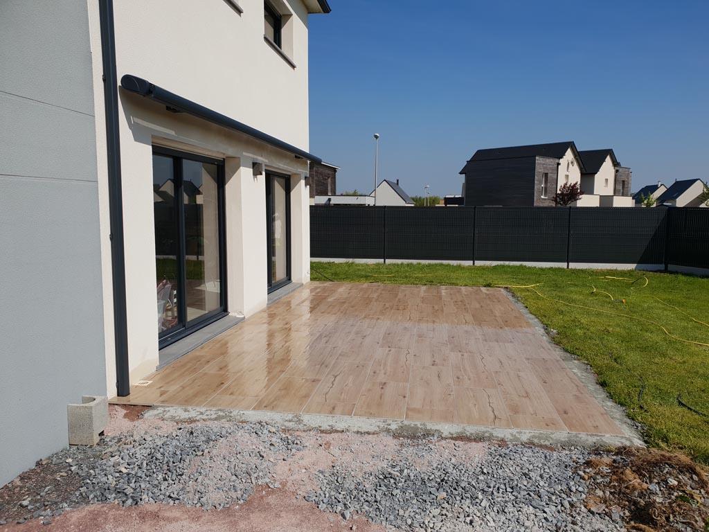 pose et création de terrasses à Caen