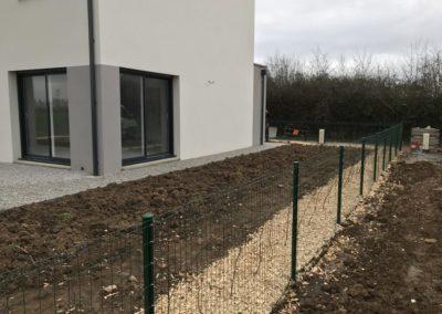 installation, pose des grillages semi-rigide (clôtures grillagées) à Caen (Calvados-14)