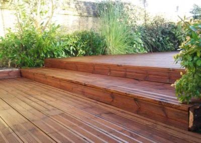 pose et création de terrasses en bois  à Caen