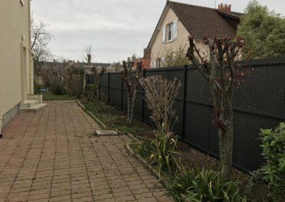 Pose installation de clôtures grillagées (panneaux rigides occultants) à Caen (Calvados -14)