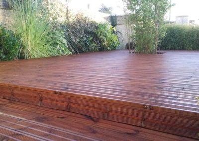 création d'une terrasse en bois résineux à Caen (Calvados -14)