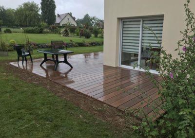 Réalisation d'une terrasse en bois composite à Caen (Calvados -14)