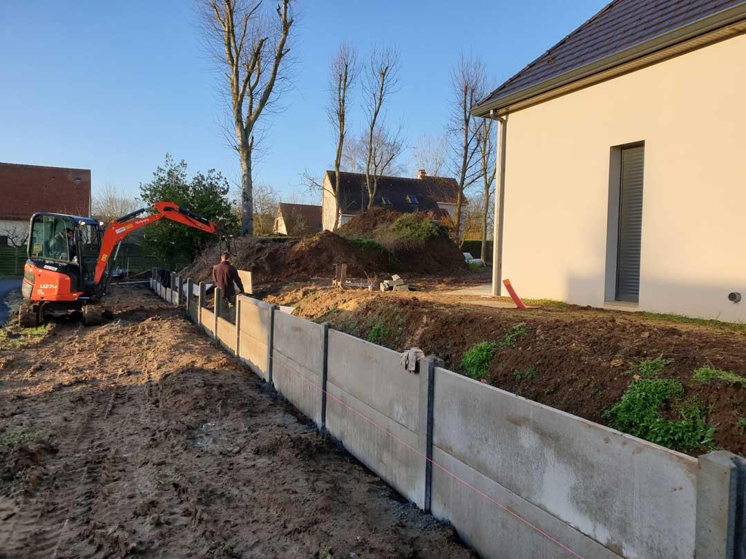 Création de murets de soutènement à Caen (Calvados -14) - AVAE